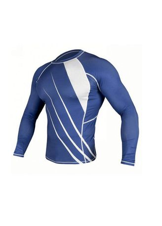 Blue color Sports Wear . Men's Slash Full Sleeved Compression Top -