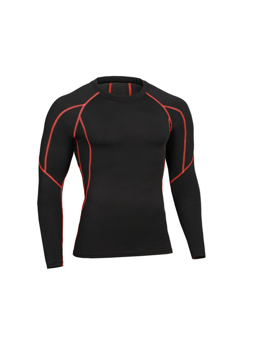 Multi color Sports Wear . Men's Black and Outlined Compression Top -
