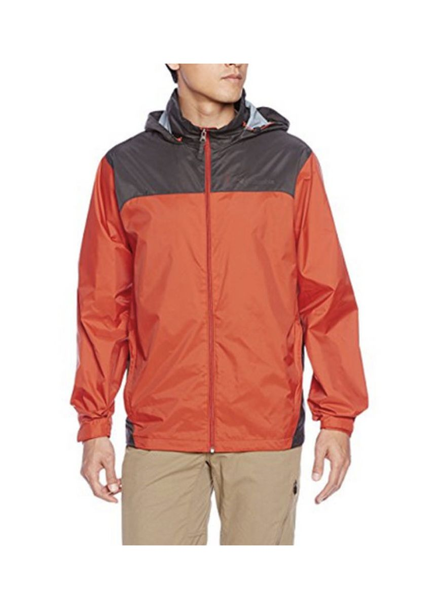 Orange color Jackets . Men's Lightweight Contrast Panel Windbreaker Jacket -