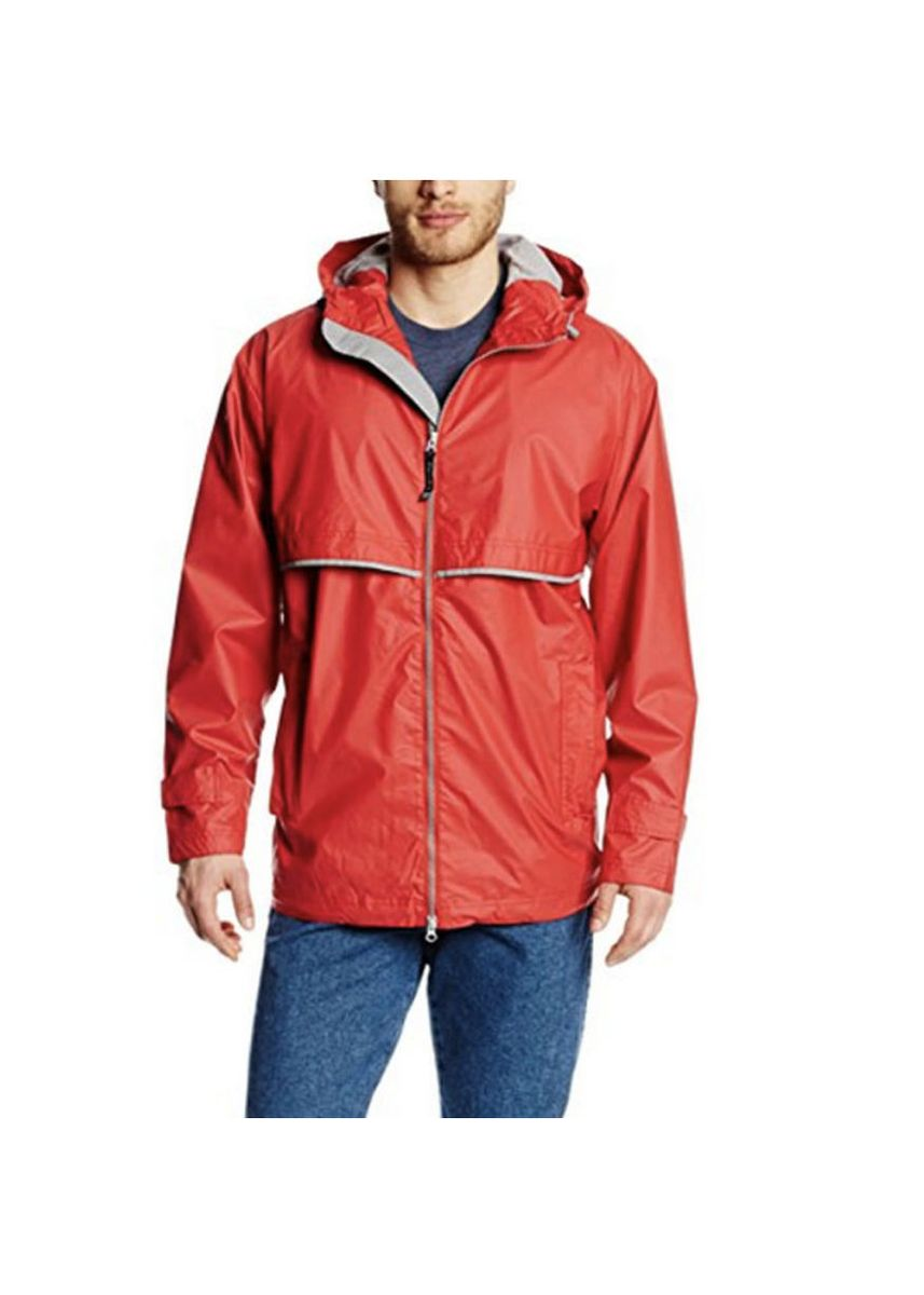 Red color Jackets . Men's Contrast Design Rain Jacket -