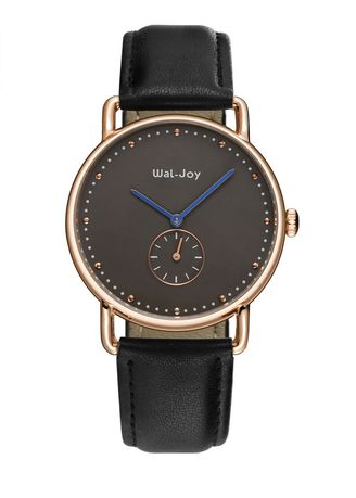 Black color Analog . Independent Second Hand Business Leather Strap Watch  -