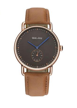 Brown color Analog . Independent Second Hand Business Leather Strap Watch  -