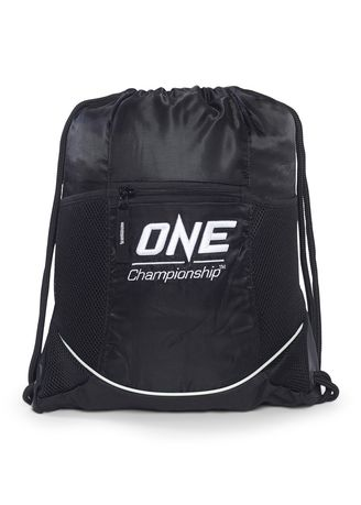 62086c512663 ONE White Logo Drawstring Bag