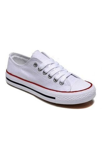 Red color Casual Shoes . 3328 White Sneaker Canvas School Shoes -