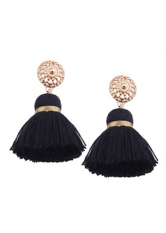 ดำ color  . MISSYJO New Design Luxury Romantic Bohemian Earrings -