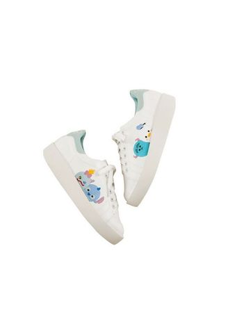 White color Casual Shoes . Tsum Tsum Cotton Candy Platfrom Sneaker 03 -