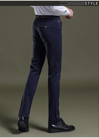 Blue color Formal Trousers . Slim Fit Stretch Fashion Pants  -