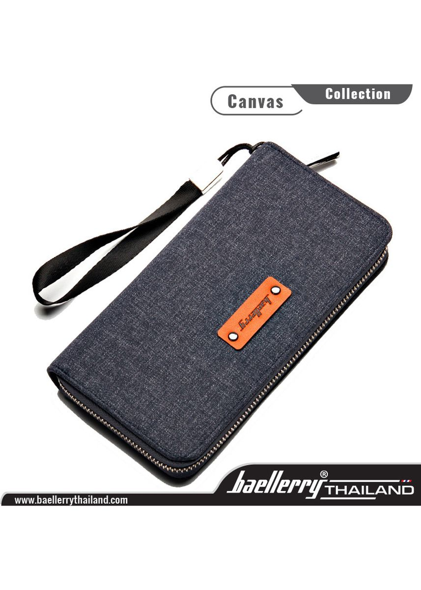 Blue color Wallets and Clutches . Baellerry Men Wallet Canvas Collection ของแท้ 100 % (น้ำเงิน) -
