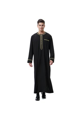 Black color Koko . Muslim Men's Ceremonial Dress for Fasting -