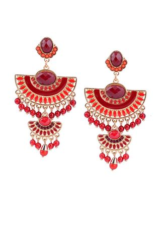 Red color  . New Fashion Women's Drop Earrings -