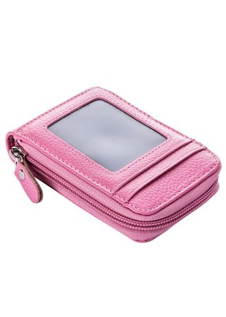 Pink color Travel Wallets & Organizers . Card Slot Business Card Wallets -