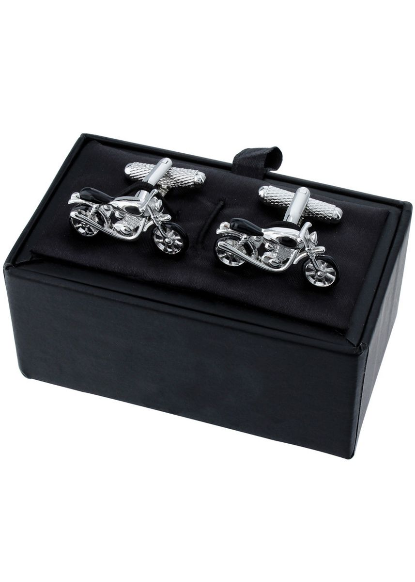 ดำ color กระดุมข้อมือ . Men's Personalized Black Enamel Bicycle Cufflinks -