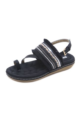 Black color Sandals and Slippers . Women's Casual Large Size Sandals Tassel Buckle Comfort Flat Shoes -