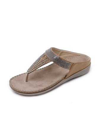 Brown color Sandals and Slippers . Casual Rhinestone Sandals Comfortable Large Size Flat Shoes Fashion Women's Shoes -