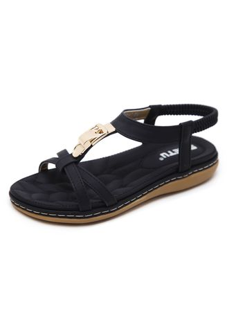 Black color Sandals and Slippers . Women's Casual Flat Heel Large Size Sandals -