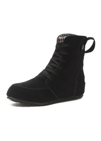 Black color Boots . Sweet Lace-Up Martin Boot -