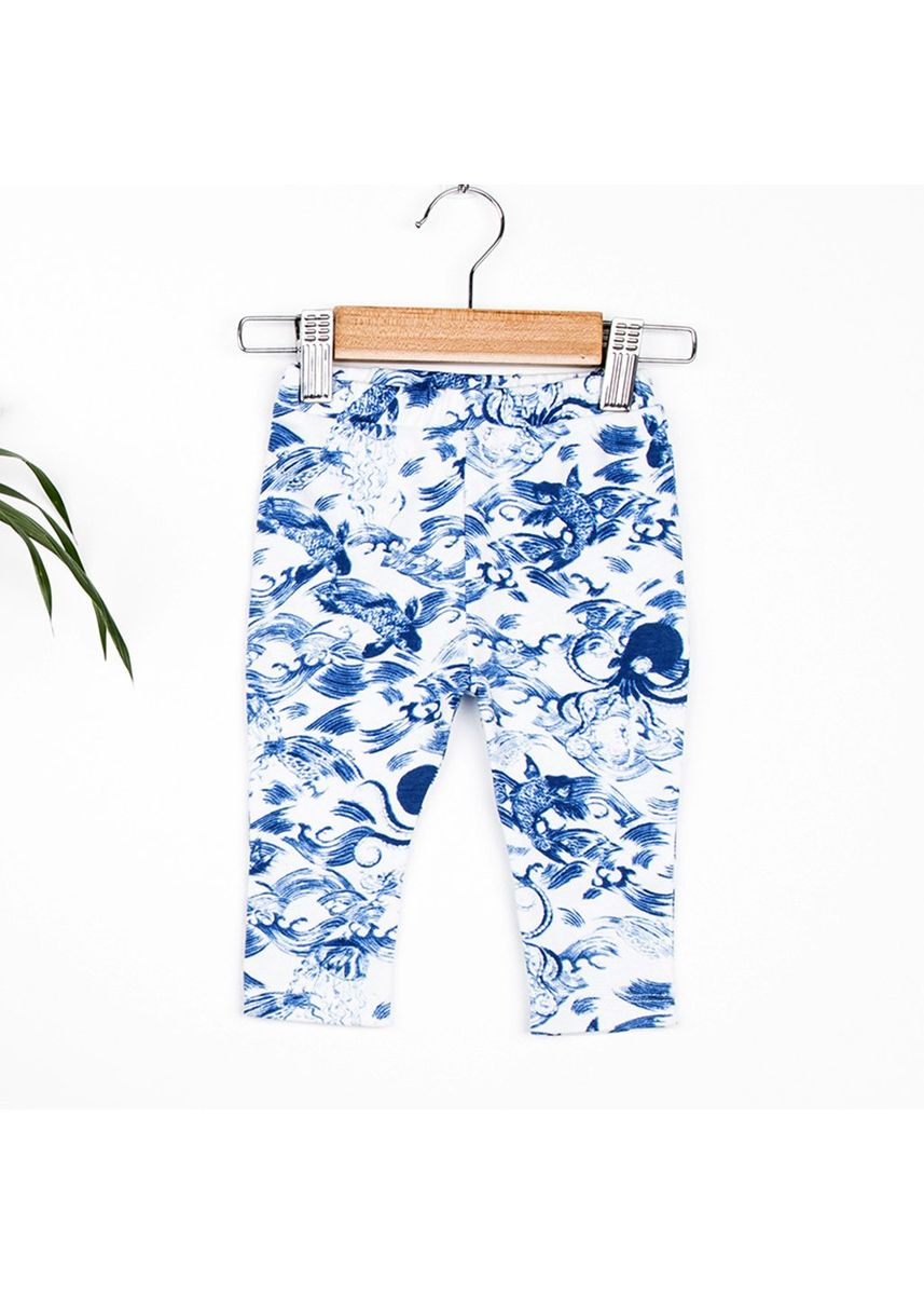 Blue color Bottoms . Hunter + Boo Leggings - Kaiyo Print -