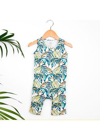 Multi color Dungarees . Hunter + Boo Jumpsuit - Palawan Print (Unisex) -