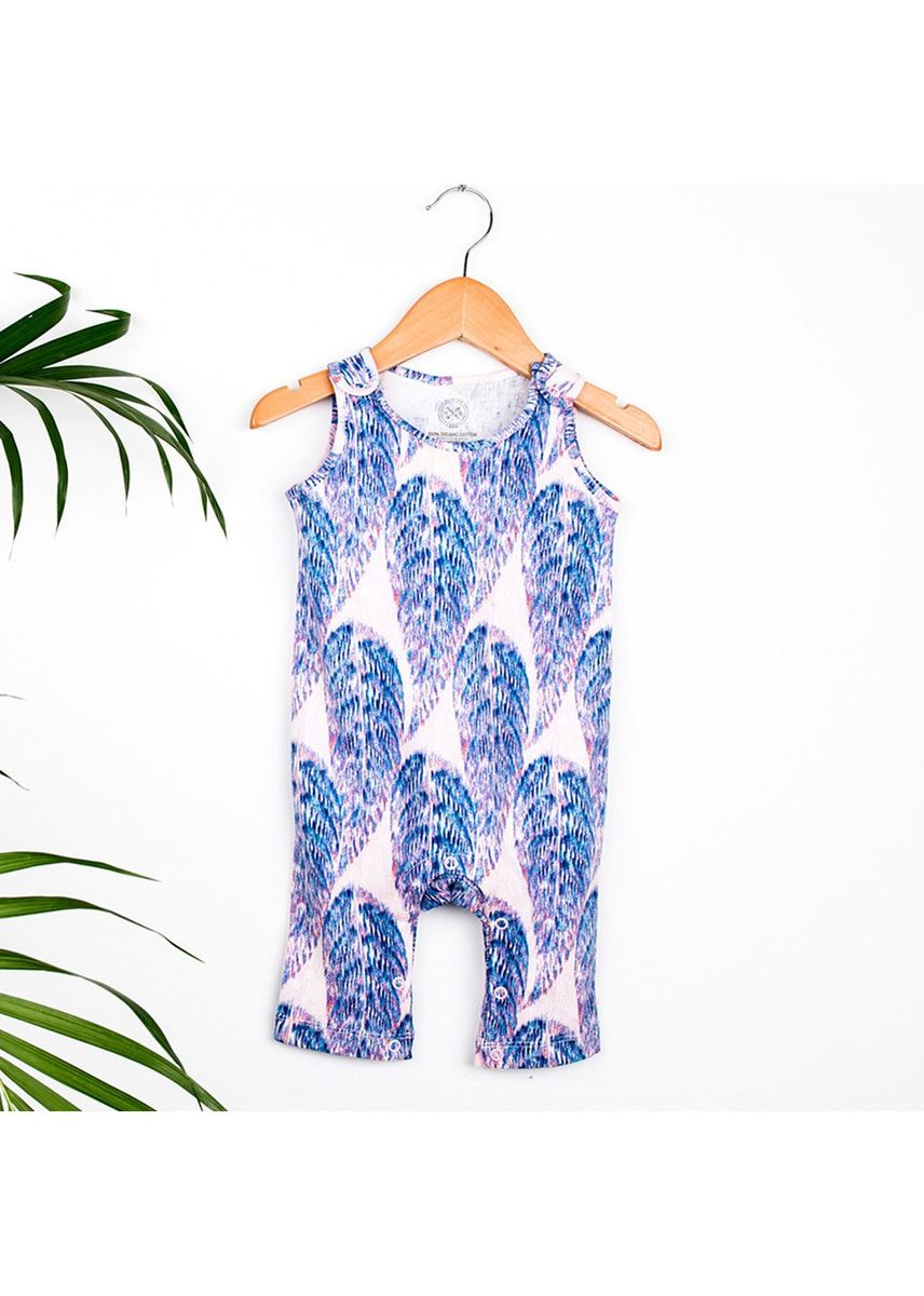 Blue color Dungarees . Hunter + Boo Jumpsuit - Boo Print (Unisex) -