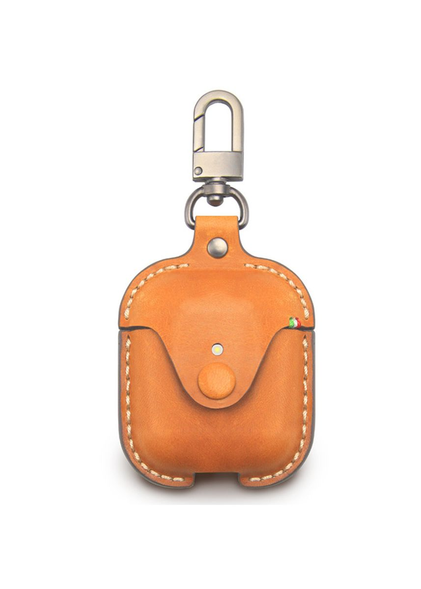 Cokelat color Pocket Squares . Cozi Leather Case for AirPods -