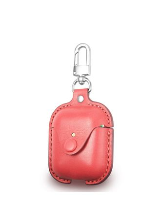 Merah Muda color Pocket Squares . Cozi Leather Case for AirPods -