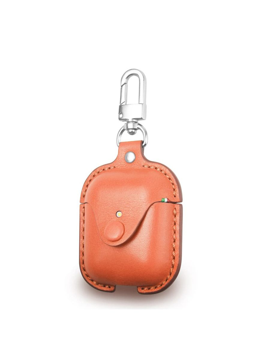 Oranye color Pocket Squares . Cozi Leather Case for AirPods -