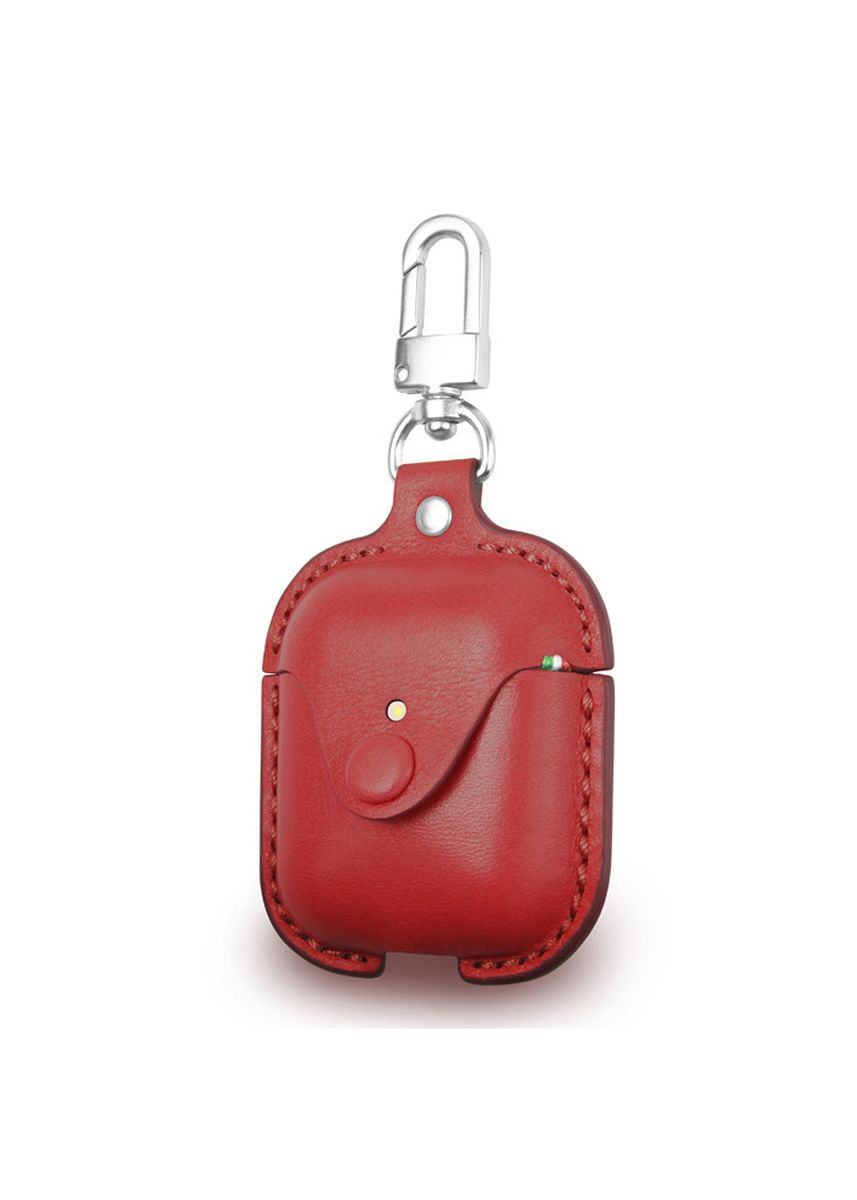 Merah color Pocket Squares . Cozi Leather Case for AirPods -