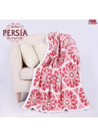 Red color Bedroom . ผ้าห่ม Persia -