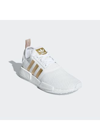 Adidas Nmd R1 White Gold Women S Casual Shoes Zilingo