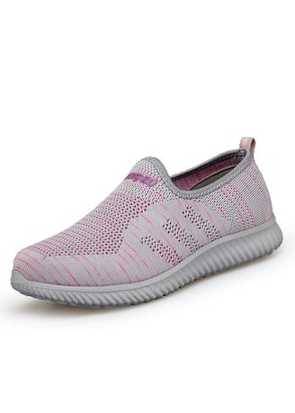 Light Grey color Casual Shoes . Autumn Couple Breathable Casual Shoes Men's Sneakers -