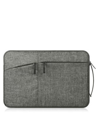 Grey color Messenger Bags . DDC 15.6Inch Premium Padded Handle Laptop Cover Sleeve -