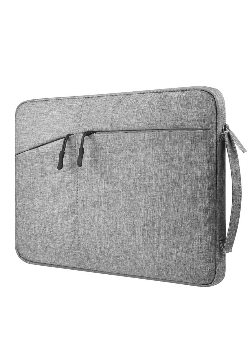 Light Grey color Messenger Bags . DDC 15.6Inch Premium Padded Handle Laptop Cover Sleeve -