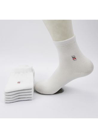White color Socks . Four seasons new men's polyester socks -