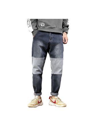 Blue color Jeans .  Loose Hip Hop Tapered Pants New  -