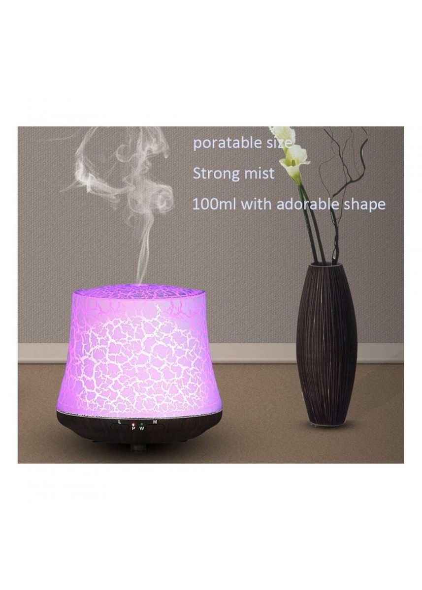 Multi color Home Fragrances . H46 Unique Crackled Wood Grain Based Oil Diffuser Humidifier 100ML -