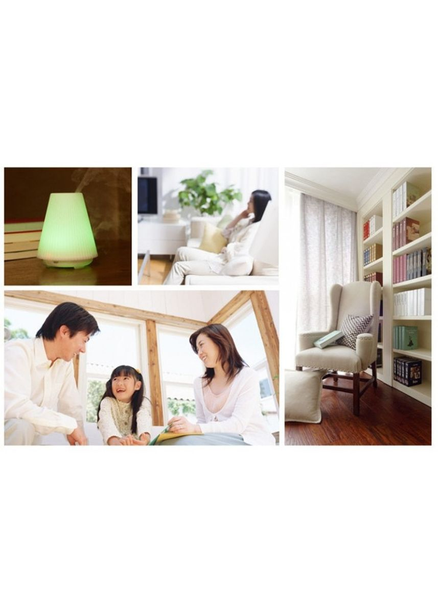 Multi color Home Fragrances . H47 Triangle Aroma Diffuser Humidifier 7 LED Night Light 100ML -