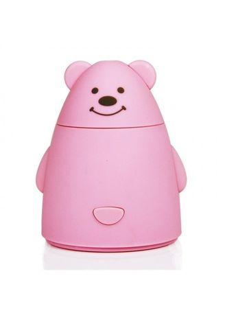 Pink color Home Fragrances . U13 Portable Cute Bear Shape USB Ultrasonic Air Humidifier 80ML Pink -