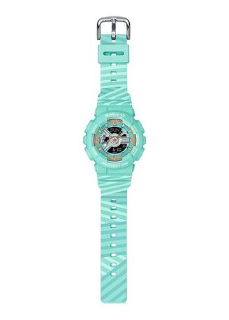 Light Blue color Digital . Casio BA-110CH-3A Watch -