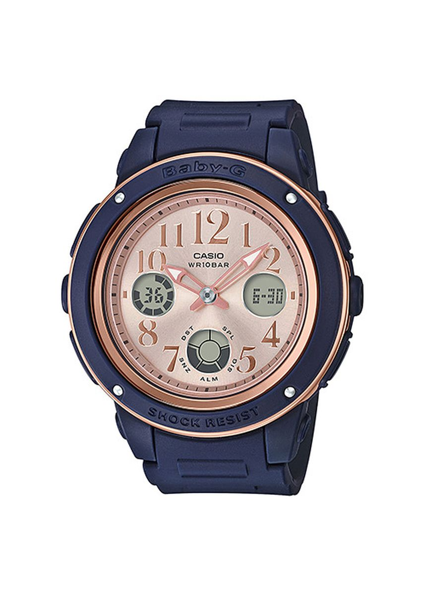Navy color Digital . Casio BGA-150PG-2B1 Watch -
