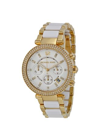 White color Chronographs . Michael Kors MK6119 Watch -