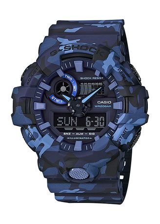 Blue color Digital . Casio GA-700CM-2A Watch -