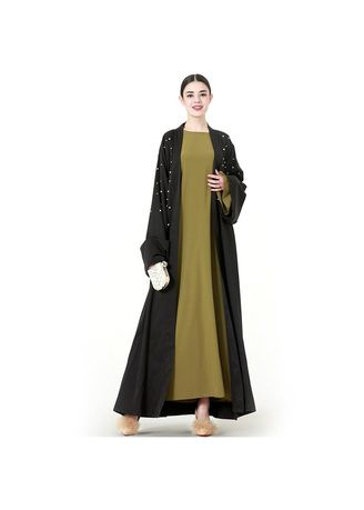 Hijab . Elegant  Cardigan Arabic Muslim Abaya Dress -
