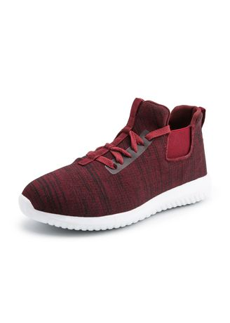 Red color Sports Shoes . Lightweight Running Sneaker -