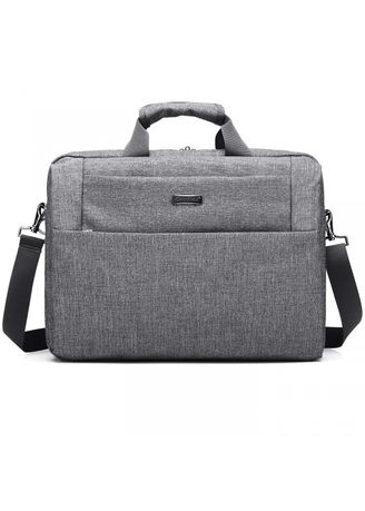 Grey color Messenger Bags . COOLBELL CB-2619 15.6 inch Nylon Laptop Messenger Bag Grey -