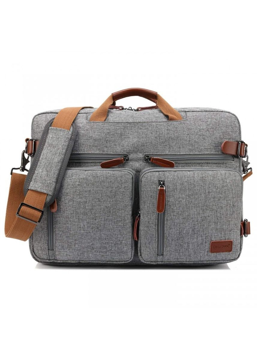 Grey color Messenger Bags . COOLBELL CB-5005 17.3 inch Canvas Laptop Messenger Bag Grey -