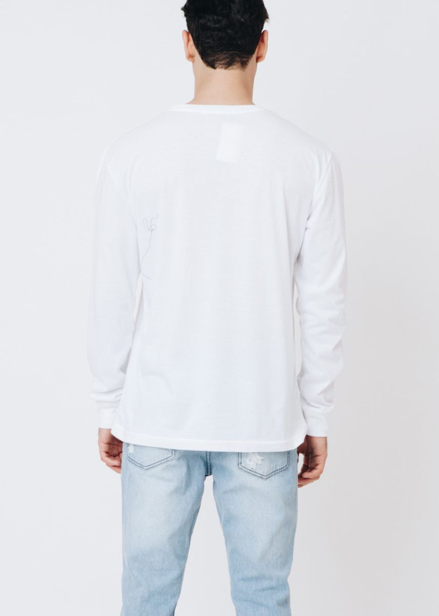 White color T-Shirts and Polos . Staff Co. Franklyn Long Tee -