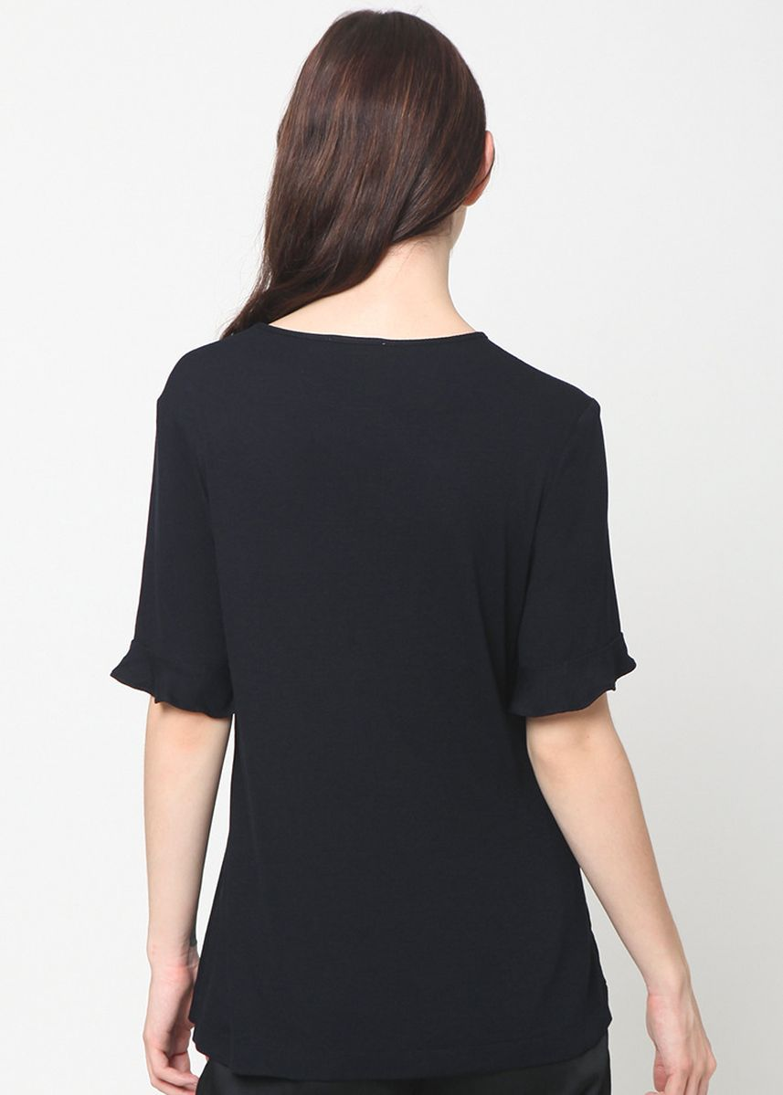 Black color Tops and Tunics . A&D Ms 1226 Basic Top   -