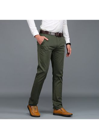 Formal Trousers . Men's Casual  Cotton Straight Fashion Trousers  -