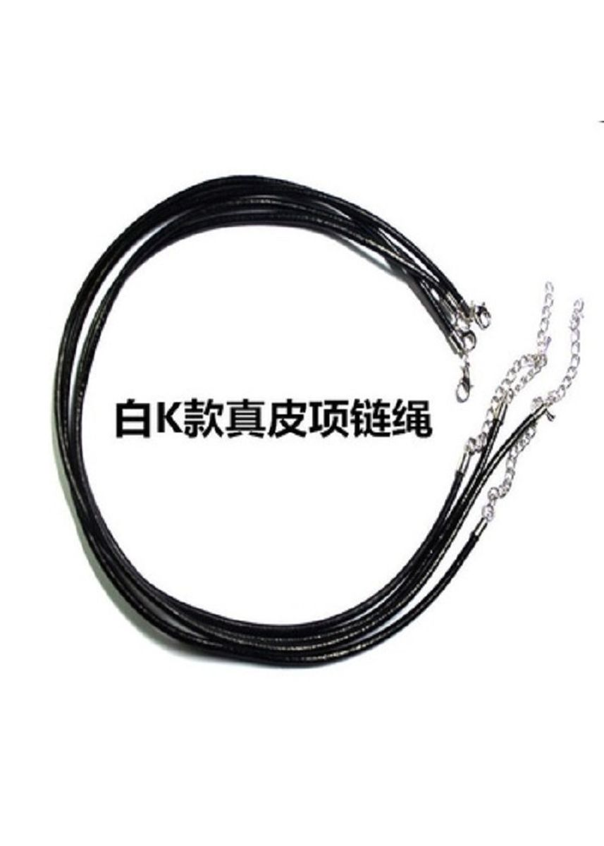 Silver color Necklaces . High Quality Korean Genuine Cowhide Leather Cord Necklace 3.0mm -