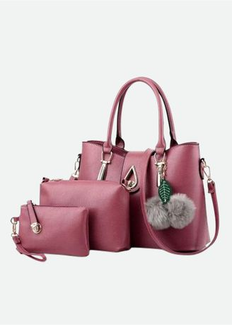 Maroon color Hand Bags . Tas DT Bless 3 in 1 air -